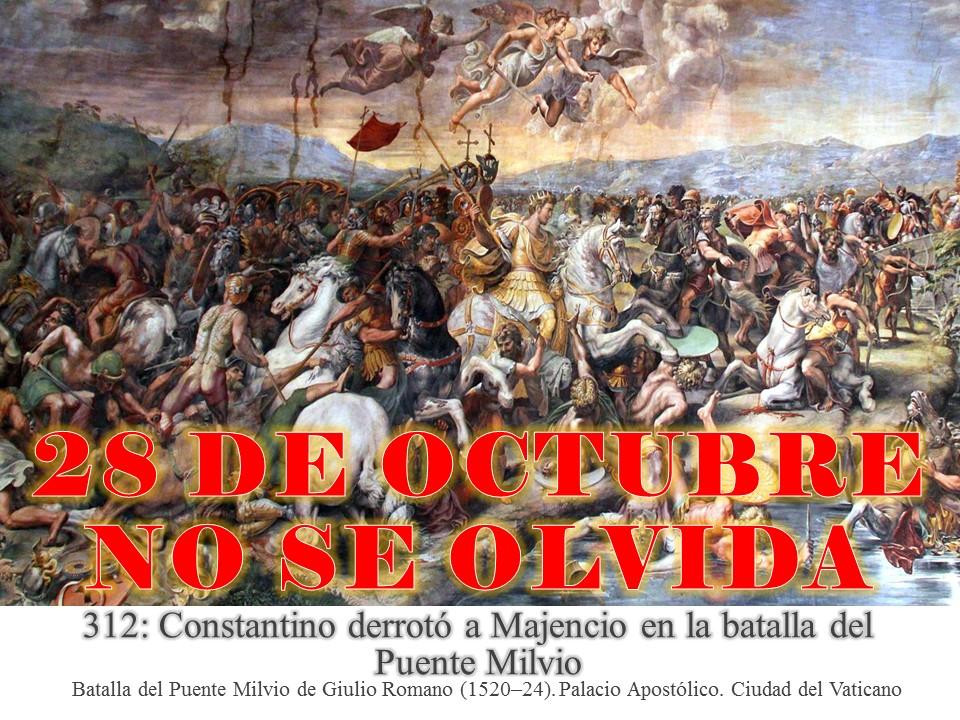 Resultado de imagen para constantino 28 de octubre