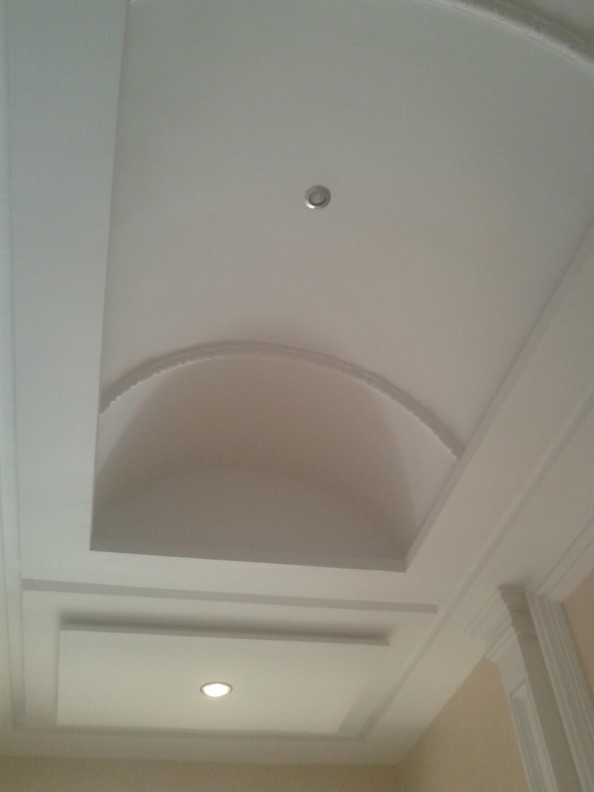 Plafond pl tre simple design with lights erradi mohamed for Plafond platre design