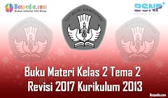 Lengkap - Buku Materi Tematik Kelas 2 Tema 2 Revisi 2017 Kurikulum 2013