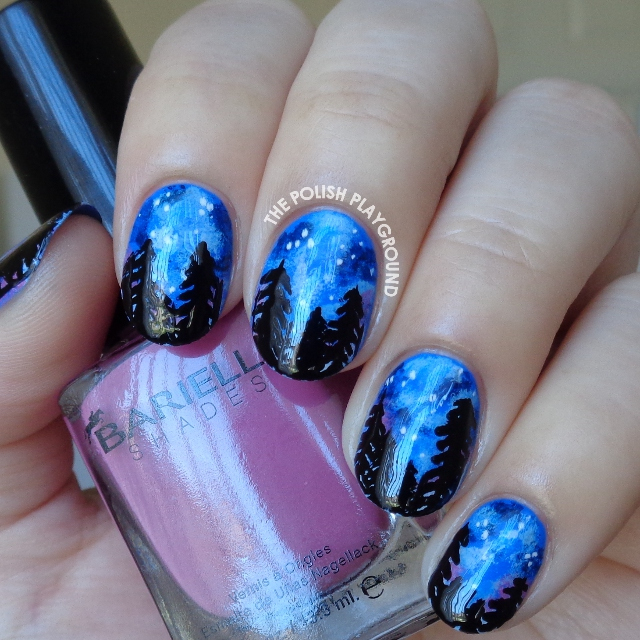 Let's Go See the Stars Inspired Nail Art