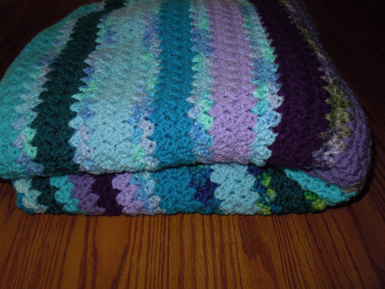 Shades Of Blue Green And Purple Crochet Afghan Patterns
