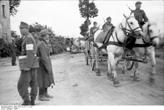 German soldiers in Rimini in 1944 before being driven  out by the Allies at the Battle of Rimini