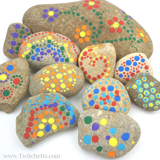easy dot rock painting ideas