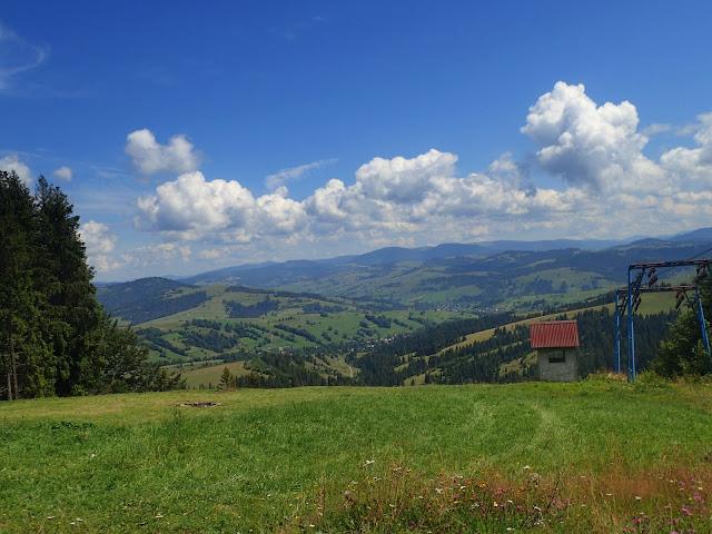 Górna stacja wyciągu narciarskiego na Borżawie