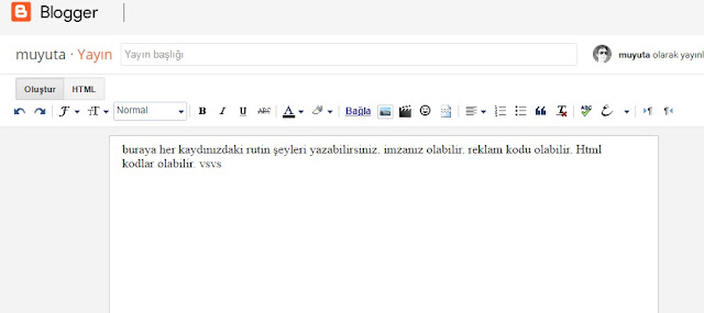 blogger kayıt şablonlu yeni kayıt eklemeli düzenleme yayınlama