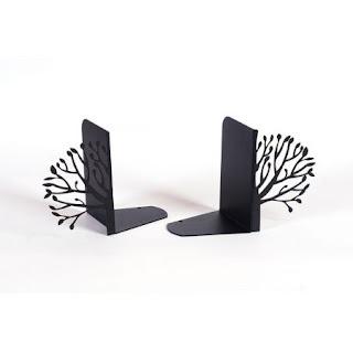 Podpórka do książek Drzewo (czarna)