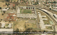 Aerial view of Boggo Road Gaol, Brisbane, 1980s.
