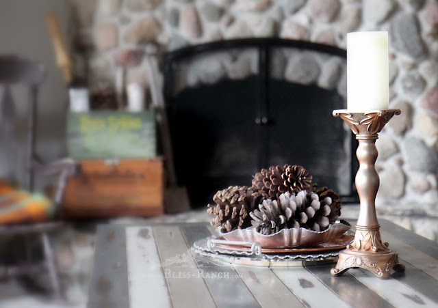 Thrift Store Decor Candlestick Makeover, Bliss-Ranch.com