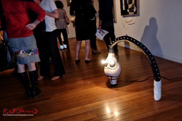 Lamp sculpture, Sarah Contos, Total Control. Photography by Kent Johnson for Street Fashion Sydney.