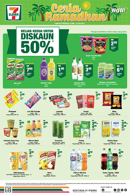 7 Eleven Malaysia 2nd Item 50% Discount Offer Promo