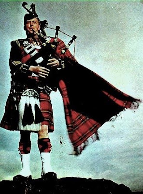 Scotsman and bagpipes