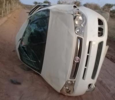 Motorista capota veículo em estrada vicinal de Serrolândia