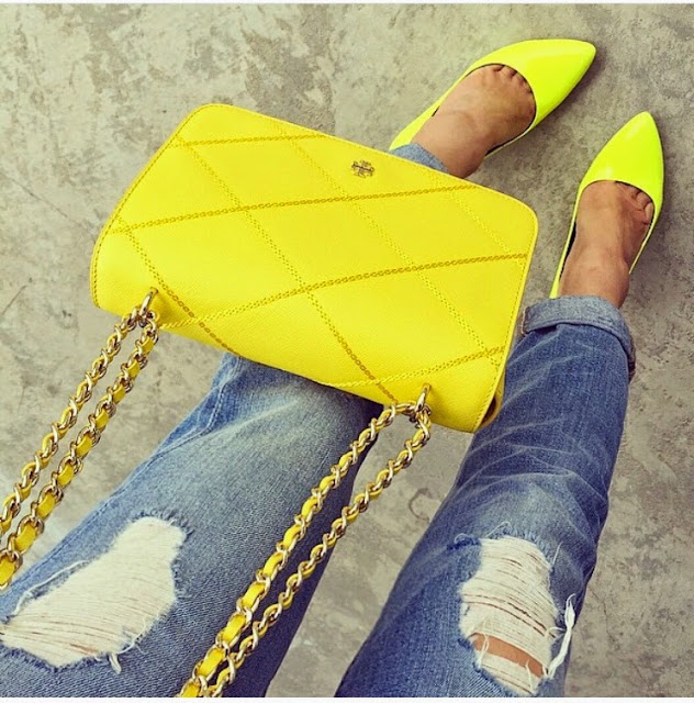 From where i stand, neon , fashion blog, kate spade heels, 7fam boyfriend jeans, tory burch bag, fashion blog