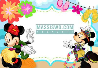 Template undangan ulang tahun kosongan tema mikey mouse