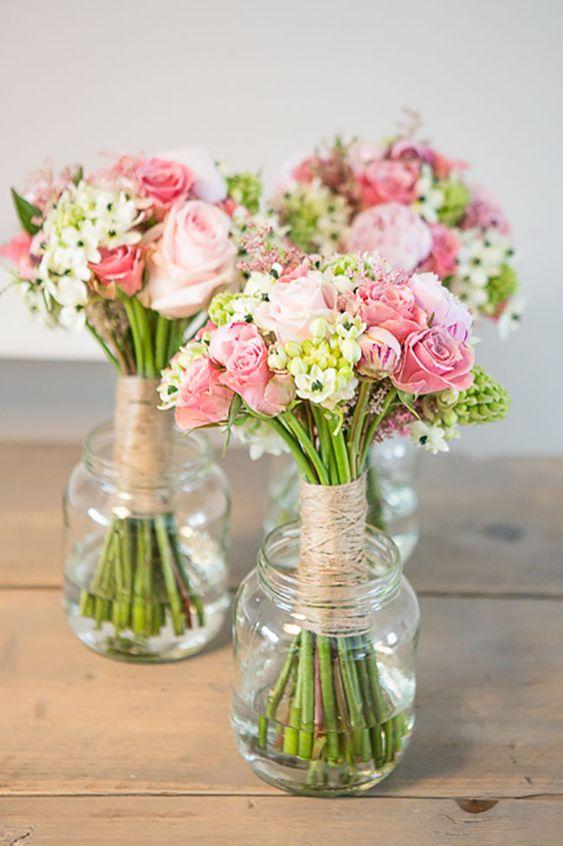 17 hermosos centros de mesa con frascos de vidrio for Decoratie bruiloft zelf maken
