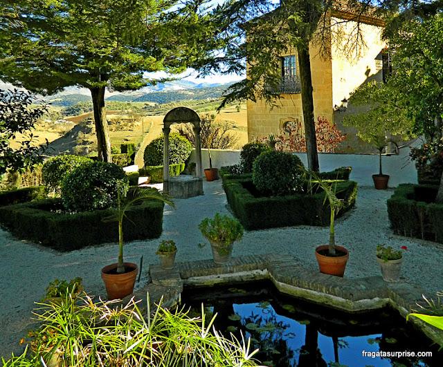 Jardins do Palácio do Rei Mouro, em Ronda, Andaluzia
