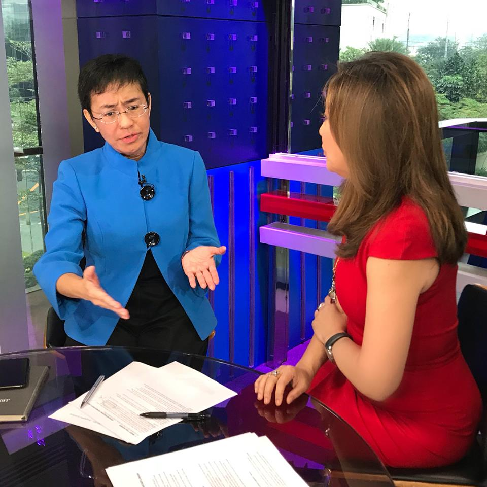 Karen Davila's interview with Rappler CEO Maria Ressa.