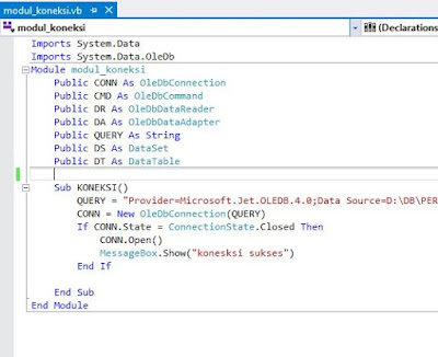 Koneksi Database Ms. Access