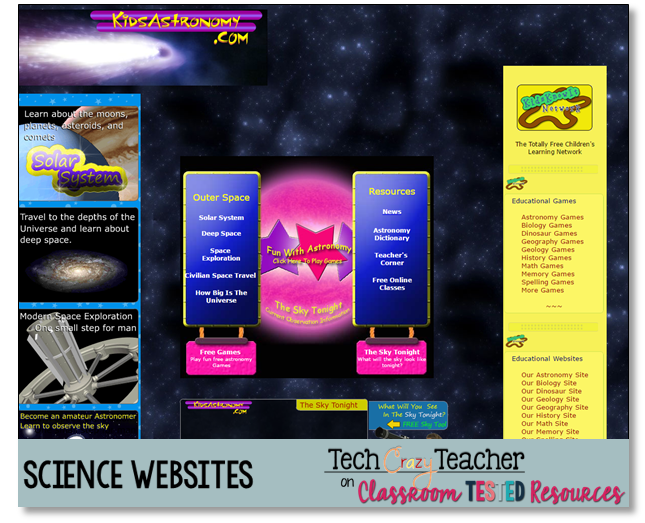 13 Fabulous Science Websites | Classroom Tested Resources