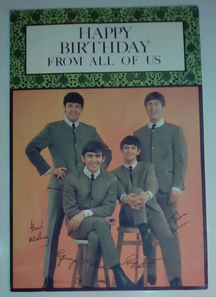 Liverpool beatles auction original beatles birthday card this original 1960s beatles birthday card was made by hi brows for nems enterprises bookmarktalkfo Choice Image