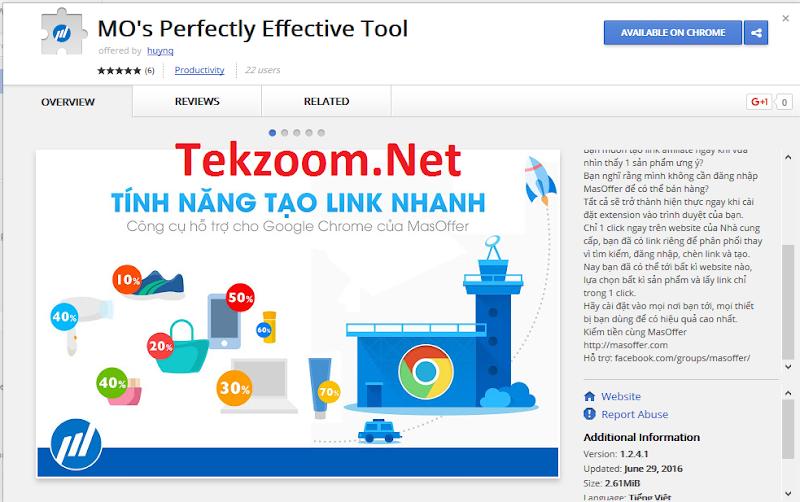 MasOffer Extension cho Chrome - Công cụ tạo link kiếm tiền cực nhanh cho thành viên