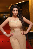 Actress Himaja Stills in Golden Spicy Long Dress at SIIMA Short Film Awards 2017 .COM 0246.JPG