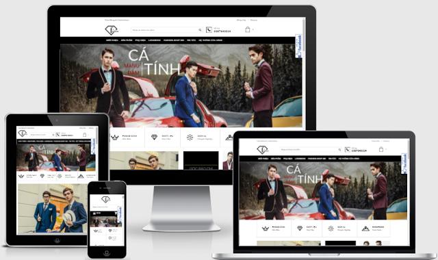 Template blogspot bán quần áo, giày dép, thời trang đẹp