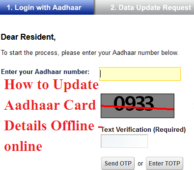 How to Update Aadhaar Card offline-online