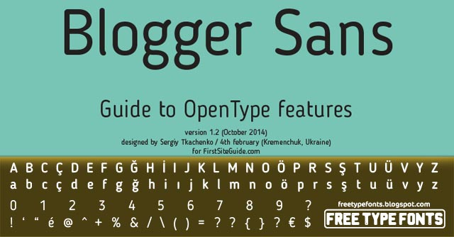 Blogger Sans Flat, Bold, Thin, Italic Free Fonts Download