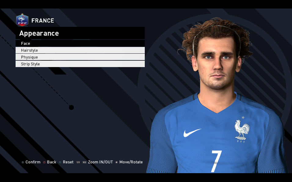 PES 2017 Griezmann Face & Tattoo by Ahmed