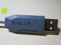 Stecker: LIHAO E-3lue M617 Gaming Maus USB Kabel DPI 800/1600/2400 LED 7 Farben Zirkularatmung Optical