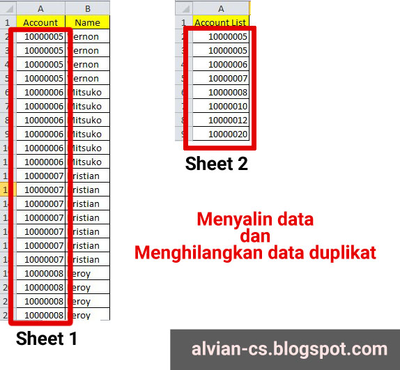 Mengcopy Data dan Menghapus Duplikat di VBA Excel