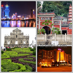 Macau, Ruins of St. Paul, A ma Temple, Pousada Hotel