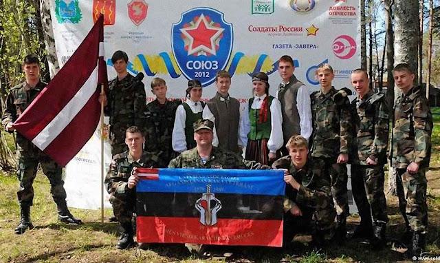 Acampamento de jovens russos na Letônia o número decresce sem cessar.
