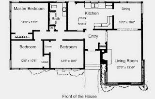 Contoh Desain Rumah Murah Denah Sederhana Model Simpel