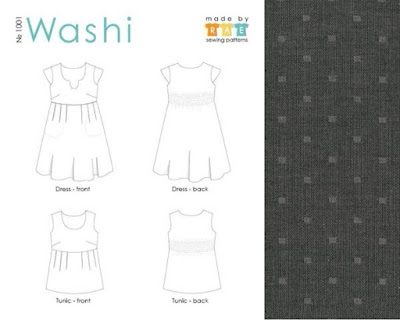 Washi Dress technical drawing, via SEWN sewing blog