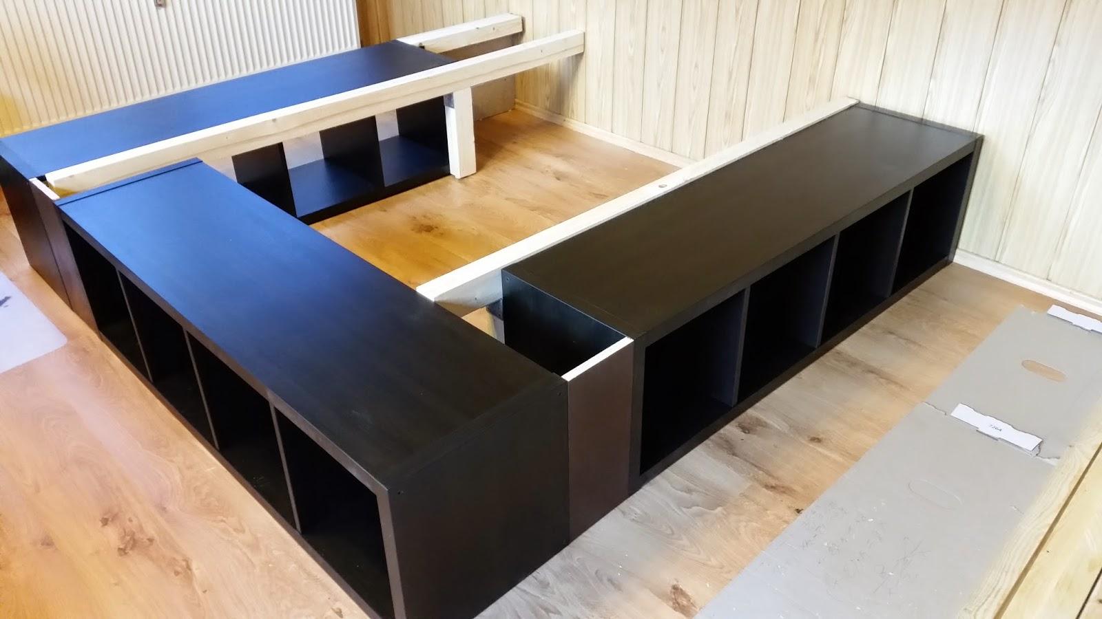 bett selber bauen ikea regal. Black Bedroom Furniture Sets. Home Design Ideas