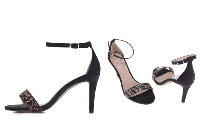 Sandale de ocazie simple negre, din piele naturala ieftine