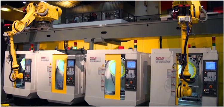 Полная автоматизация производства на основе промышленных роботов