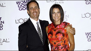Jerry Seinfeld with his wife Jessica