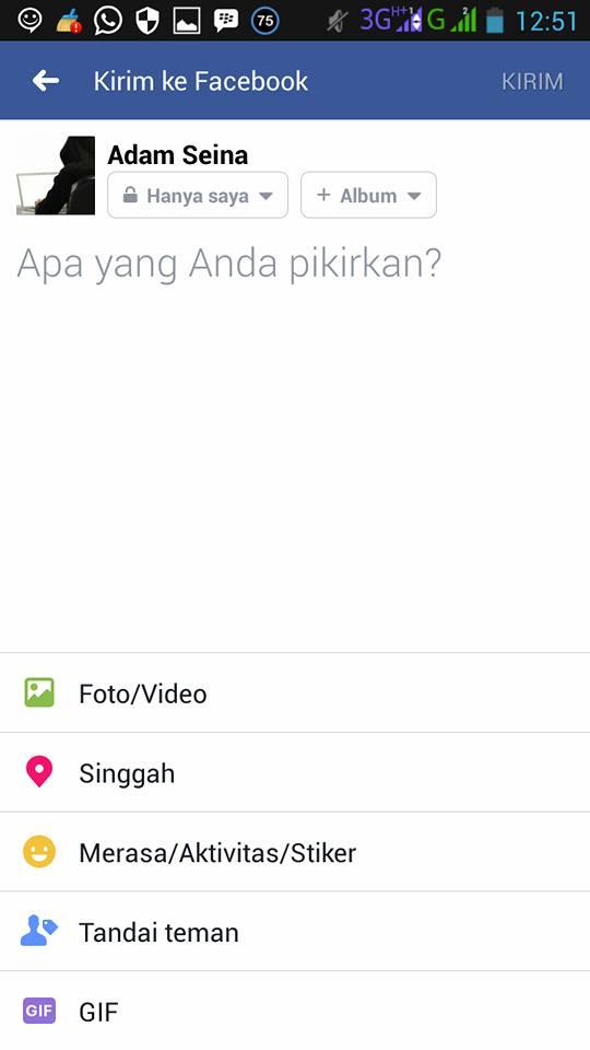 Cara Membuat Lokasi Tempat Singgah di Facebook Via HP