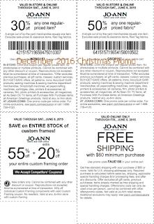 Joann coupons for december 2016