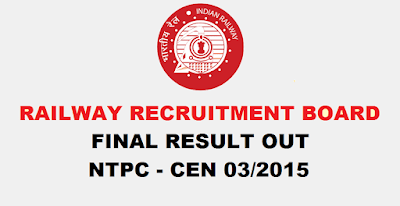 RRB NTPC Final Result Out (All Region)