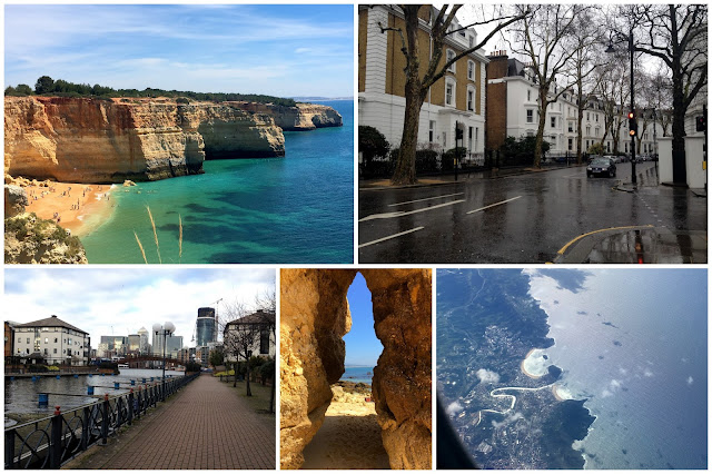 Collage de fotos Londres y Algarve