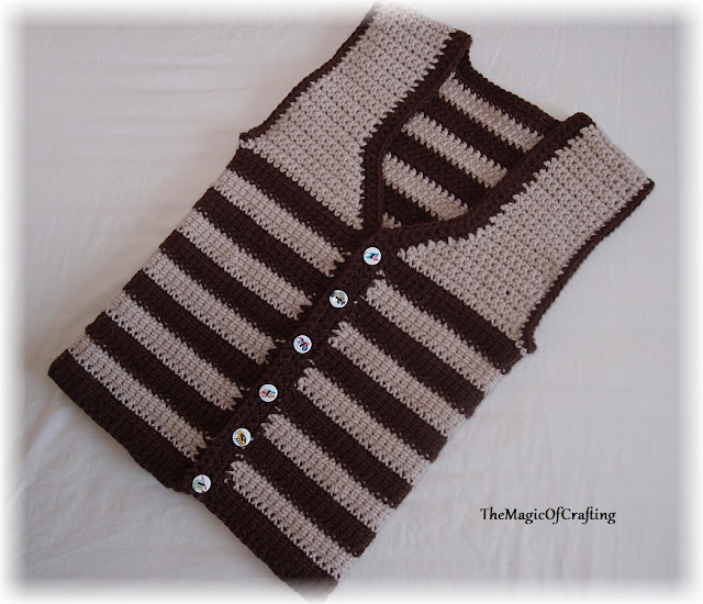 Free Crochet Patterns And Diy Crochet Charts Easy Toddler Vest