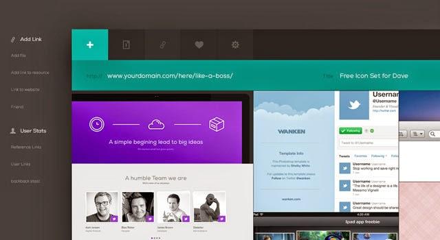 Free PSD - Web App UI