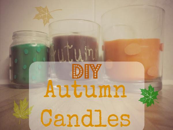 DIY Autumn Candles