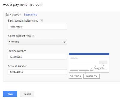 Setting Pembayaran adsense dengan payoneer sudah lengkap