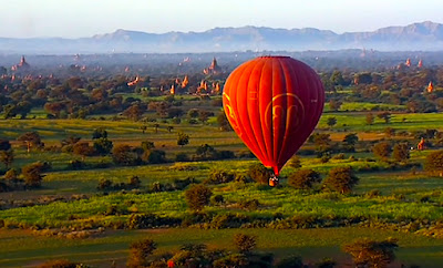 Bagan ride with Balloons