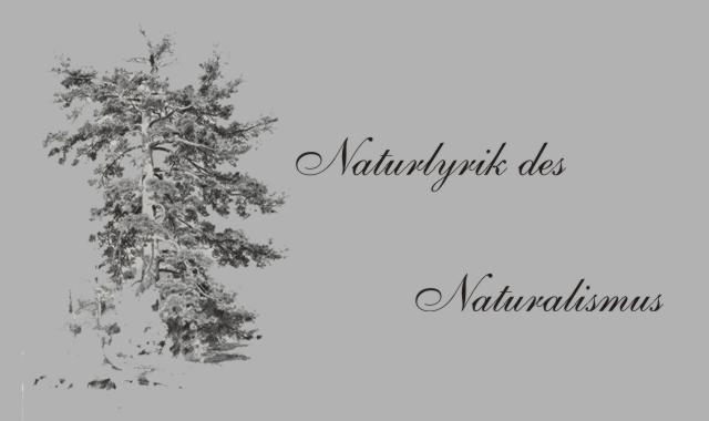 Gedichte Und Zitate Für Alle Naturalismus Naturgedichte H